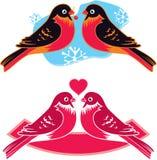 Birds in Love Royalty Free Stock Photos