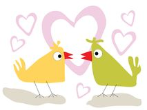 Birds in love Royalty Free Stock Photos
