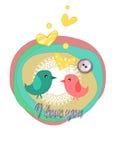 Birds in love Stock Photos