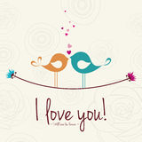Birds in Love. Abstract birds in love on a special background Stock Photo
