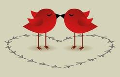 Birds love card Stock Image