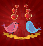 Birds love Stock Image