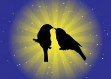 Birds in love vector Stock Photo