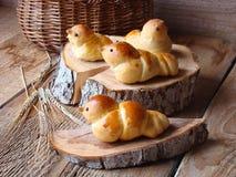 Birds made of dough Stock Photos