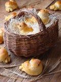Birds made of dough Stock Images