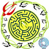 Birds Maze Labyrinth Activity Sheet royalty free stock images