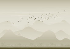 Birds migration Stock Photo