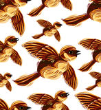 Birds migration seamless pattern. Royalty Free Stock Photos