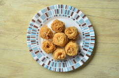 Birds nest baklava dessert royalty free stock photos