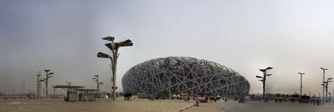 The birds nest stadium. The birds nest sports and recreation stadium scene of the opening and closing ceremonies at the beijing olympics Royalty Free Stock Photography