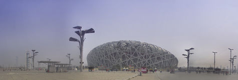 The birds nest stadium. The birds nest sports and recreation stadium scene of the opening and closing ceremonies at the beijing olympics Stock Images