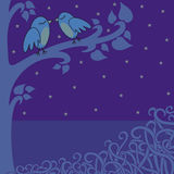 Birds-in-the-night Stock Photography
