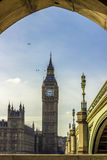 Birds over Big Ben in London Royalty Free Stock Images