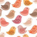 Birds pattern. Birds seamless pattern. Bitmap picture with additional vector file Royalty Free Stock Photo