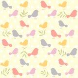 Birds pattern retro Stock Photo
