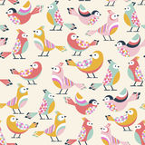 Birds pattern. Seamless pattern with little birds Royalty Free Stock Images