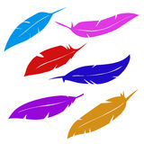 Birds pens. Vector eps 8 Royalty Free Stock Photos