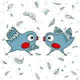 Birds Quarrel Royalty Free Stock Photography