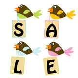 Birds with sale tags Stock Images