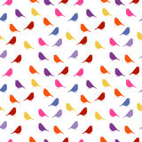 Birds. seamless baby background with colour birds. Royalty Free Stock Photography