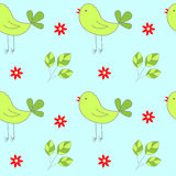 Birds seamless pattern Royalty Free Stock Photo