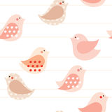 Birds seamless pattern Royalty Free Stock Images