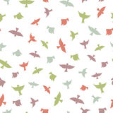 Birds seamless pattern. Color silhouettes of birds. Royalty Free Stock Photography