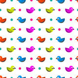 Birds seamless pattern. Birds colorful funny seamless pattern Royalty Free Stock Photos