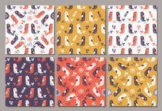 Birds seamless pattern. Colorful texture Royalty Free Stock Photography
