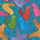 Birds Seamless Pattern_eps Stock Image