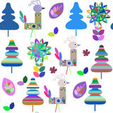 Birds  seamless pattern. It is located in swatch menu,   Stock Images