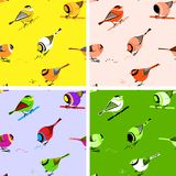 Birds Seamless Pattern Tiles Stock Photography