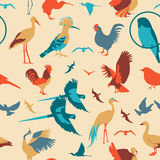 Birds seamless pattern. Vector flat style Stock Photography