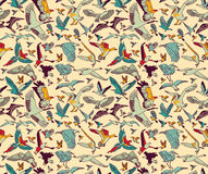 Birds seamless pattern wallpaper color Royalty Free Stock Photo