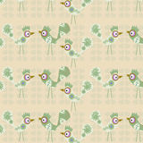 Birds  vintage gentle cute pattern  Royalty Free Stock Photo