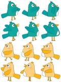 Birds Set_eps. Illustration of design draw birds set on white background Royalty Free Stock Photography