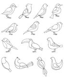 Birds set Royalty Free Stock Photos