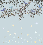 Birds sitting on branches Royalty Free Stock Photo