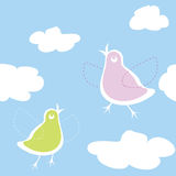 Birds on the sky Royalty Free Stock Image