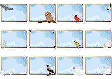 The birds and the sky Royalty Free Stock Images
