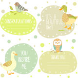 Birds stickers Stock Images