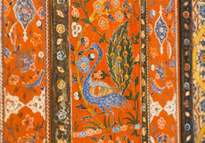Birds of 17th century Aleppo room, paintings of Syrian dwelling house Royalty Free Stock Image