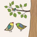 Birds and tree Royalty Free Stock Image