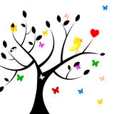 Birds Tree Indicates Heart Shape And Environment Royalty Free Stock Photography
