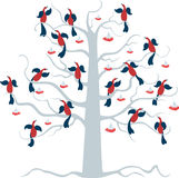 Birds on the tree Royalty Free Stock Image