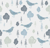 Birds and trees. stock illustration