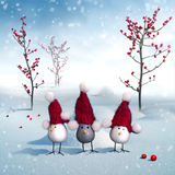 Birds trio Royalty Free Stock Image