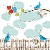 Birds tweeting Royalty Free Stock Photos