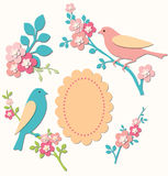 Birds and twigs Stock Photos