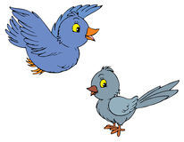 Birds (vector clip-art) Royalty Free Stock Images